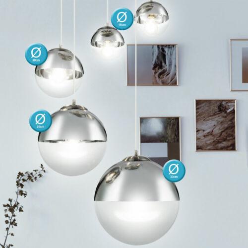 Design Kugel Hänge Lampe Schlaf Zimmer Beleuchtung Decken Pendel Glas Strahler