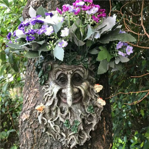 Outdoor Resin Statue decoration Tree Pendant Sculpture For Home Gardening decor.