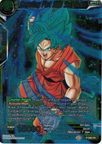 Negating Fist SSB Son Goku P-089 PR Dragonball Super Card Game Dash Pack 5