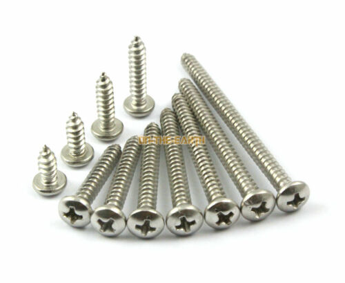 100 Pieces M4.2 x 13mm 304 Stainless Steel Phillips Pan Head Self Tapping Screw