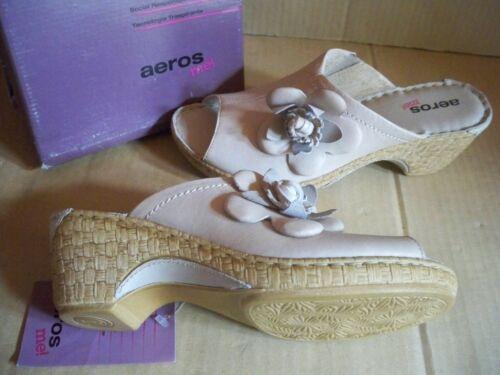 Gr 39 aeros me  Pantolette Sandalette beige   Leder 1310407
