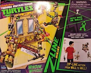 Teenage Mutant Ninja Turtles Window Wipeout Z-Line Ninjas Playmates 2013 TMNT