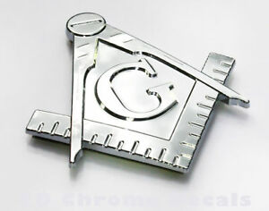 Masonic-Mason-Car-Auto-Bike-3D-chrome-decal-sticker-Emblem-Freemasonry