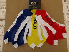 Polo Ralph Lauren Trainer calcetín blanco acolchado Malla Top Calcetines de tobillo 3p/p BNIP