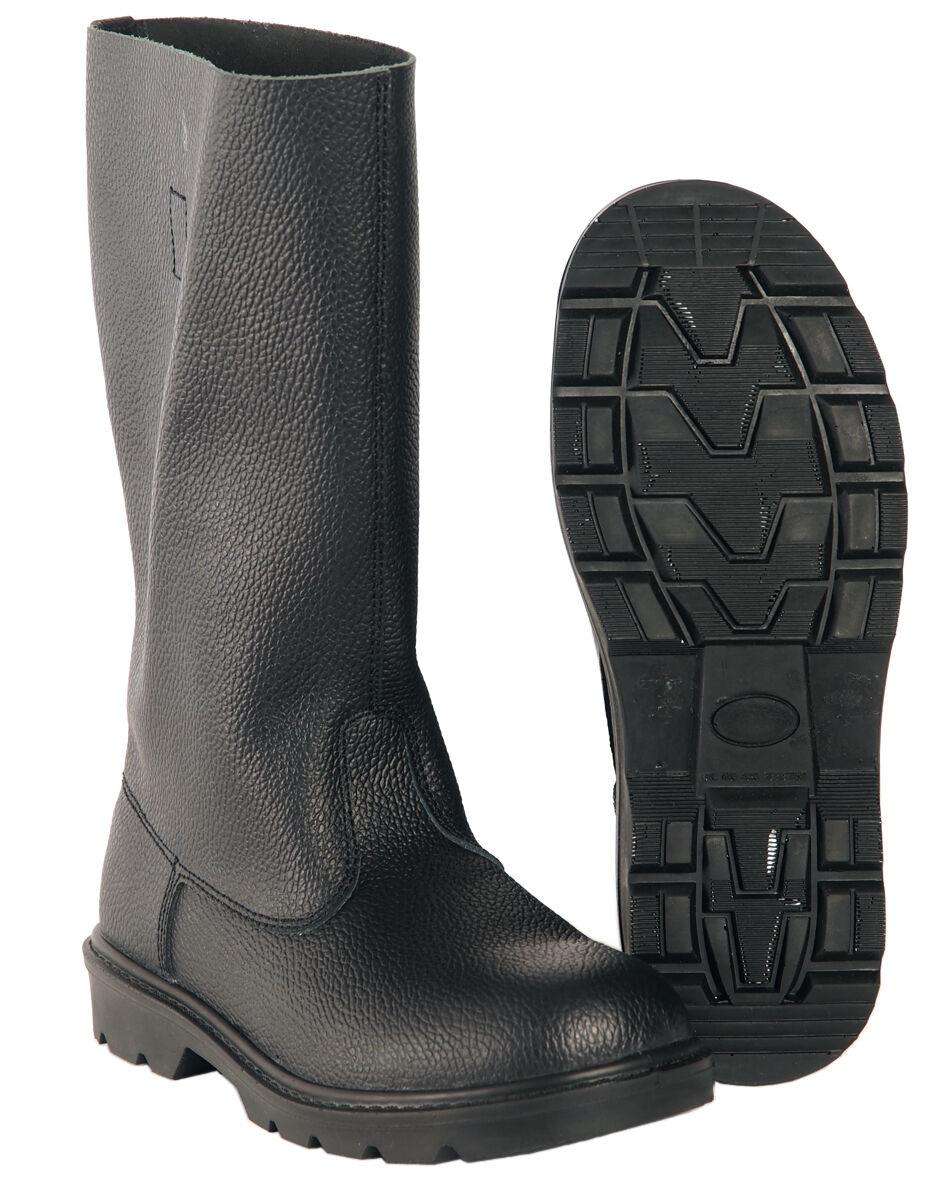 Mil-Tec Knobelbecher Schwarz Kampfstiefel Leder-Stiefel Lederstiefel 41-48