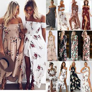 Women-Floral-Maxi-Boho-Dress-Summer-Beach-Cocktail-Evening-Party-Long-Sundress