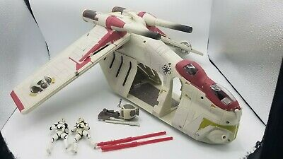 star wars the clone wars attack of the REPUBLIC GUNSHIP missiles BOMB lot 4