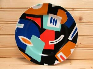 SLT196-Authentics-by-Seltmann-Weiden-Salad-Plate-Multicolor-Abstract-Design-B157