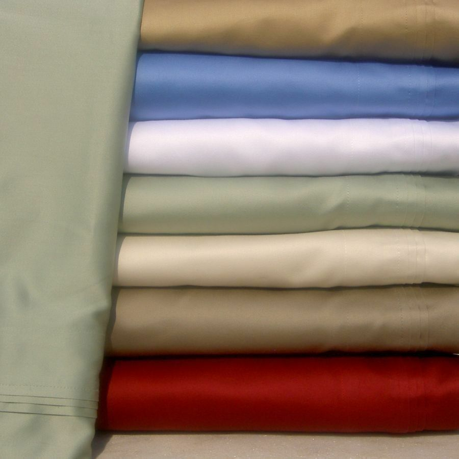 1000TC 100% SOFT EGYPTIAN COTTON 4PC SHEET SET S US SIZE Queen Cal King & COLORS