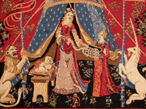"""belle idée de cadeau Nouveau 39/"""" a mon seul désir cluny tapestry wall hanging rouge"""