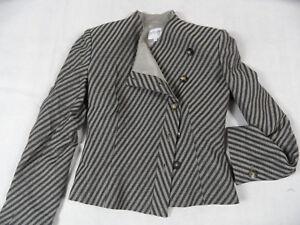 Das Bild wird geladen ARMANI-stylischer-gestreifter-Blazer-taupe-grau-Gr-it- 85c3903ce0