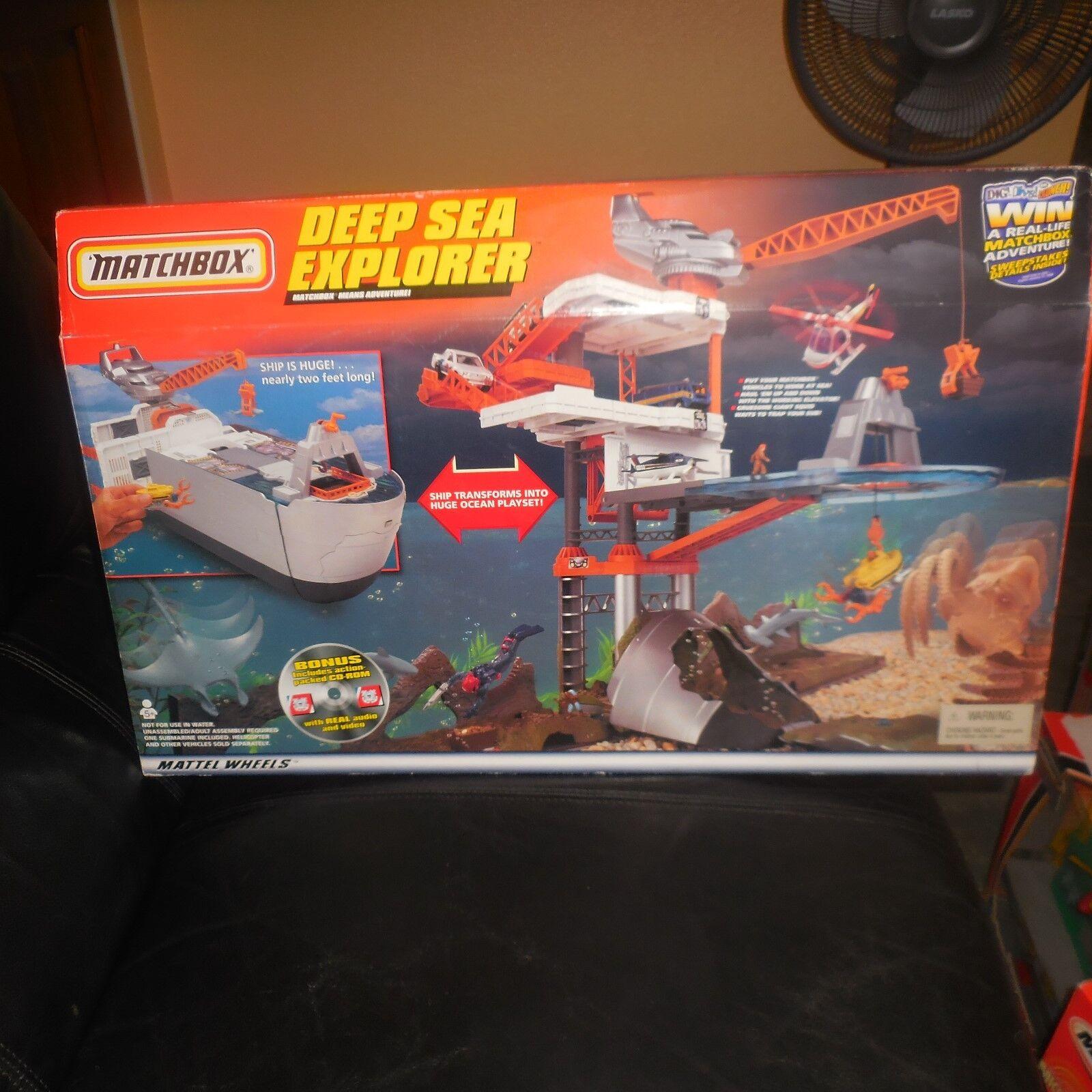 Raro 1999 Matchbox enorme 2' profundo mar Explorer Playset & Guardia Costera CD ROM Sellado