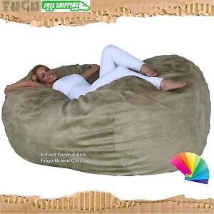 La Foto Se Está Cargando Bean Bag Chair The Classic 6 Foot Fugu