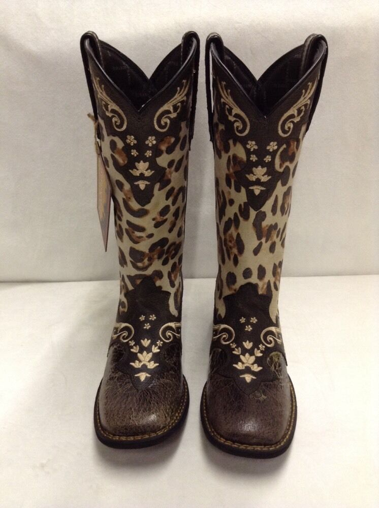 Women's Crush by Durango, Leopard Print Boots, Sz 9