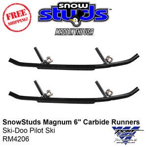 """SnowStuds Magnum 6"""" Carbide Runners Ski-Doo Pilot Ski - RM4206"""