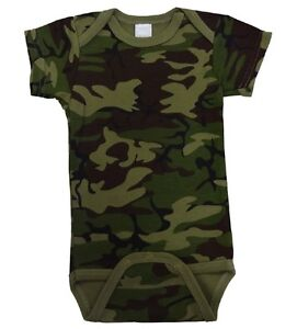 Infant Army Green Camo 1pc BodysuitCAMOFLAUGEDRESSCOSTUMEPLAY