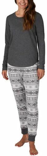 Eddie Bauer Ladies/' Family Jogger and Long Sleeve Top Pajama PJ Sleep Set