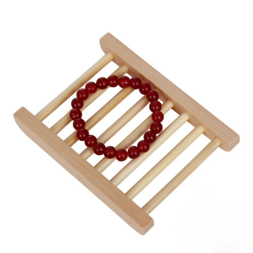 1pc Bamboo Wooden Soap Dishes Tray Holder Storage for Bathroom Shower Hot