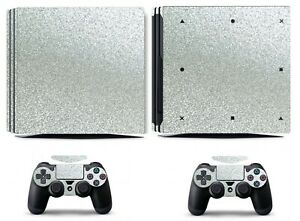 Shining Silver Bling Glitter Skin Sticker For Sony Ps4 And 2 Controller Skins Video Games & Consoles