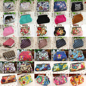 Womens-Gilrs-Vintage-Look-Clutch-Credit-Card-Change-Coin-Purses-Holder-Wallets