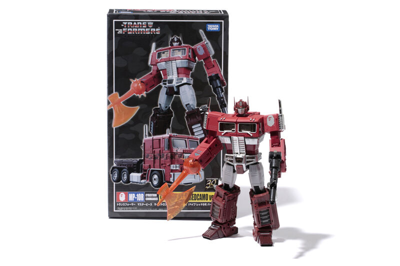TRANSFORMERS MP CONVOY BAPE RED CAMO VERSION from Japan