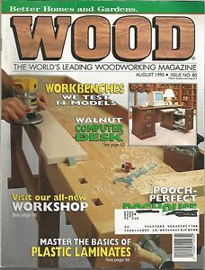 Image Is Loading Wood Magazine Better Homes And Gardens August 1995