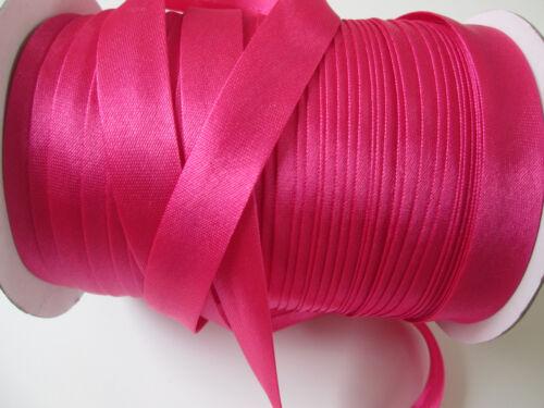 3 Meter SCHRÄGBAND Magenta Pink Satin Borte 1,5cm Spitze Elegante BA 062