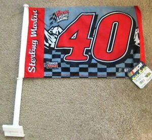 STERLING-MARLIN-40-NASCAR-2002-Coors-Light-Collectible-Edition-2-Sided-Car-Flag
