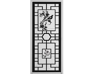 beau stickers asiatique pour porte chinois panneau japonais couleur au choix ebay. Black Bedroom Furniture Sets. Home Design Ideas