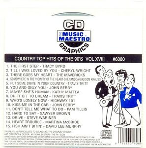 Country Hits Of The 90039s Vol  XVIII Music Maestro 6080 CDG Original - <span itemprop='availableAtOrFrom'>Mablethorpe, United Kingdom</span> - Country Hits Of The 90039s Vol  XVIII Music Maestro 6080 CDG Original - Mablethorpe, United Kingdom