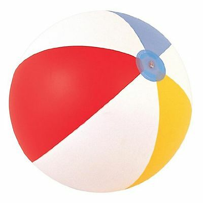 "Inflatable Blowup Panel Beach Ball 16"" 20"" 24"" Holiday Party Swimming Garden Toy"