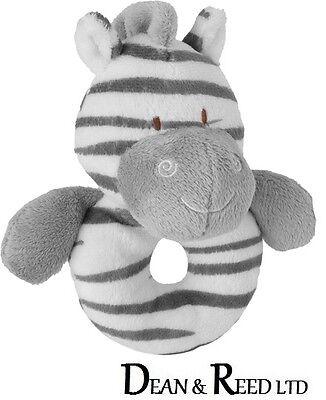 Zooma Zebra Ring Rattle Baby Range 14cm - Soft Toy by Suki (Plush/Beanie)