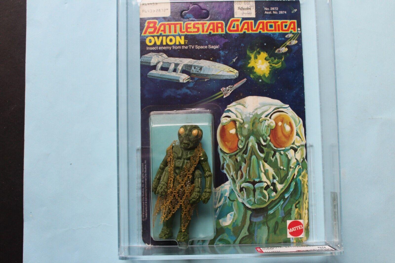 Battlestar Galactica OVION  UKG MOC  AFA 80 Graded  Action Figure Mattel 1978