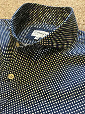 EMMETT LONDON POLKA DOT CUT AWAY COLLAR SHIRT M MEDIUM SUIT 15.5 COST £125