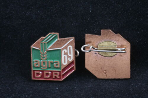 NOS East German Germany 1969 AGRA Agricultural Expo Pin Badge Communist Brass