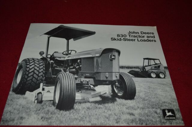 John Deere 830 Tractor 70 170 Skid Steer Loader Dealers Brochure