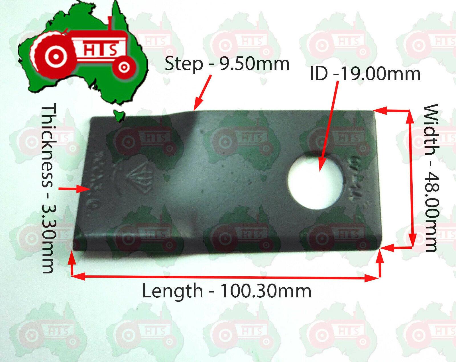 126mm x 47mm x 4mm Hay RH Blade Disc Mower TAARUP KVERNLAND ID 20mm