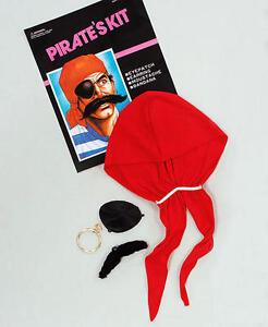 PIRATE BUCCANEER  EYE PATCH /& MOUSTACH FANCY DRESS