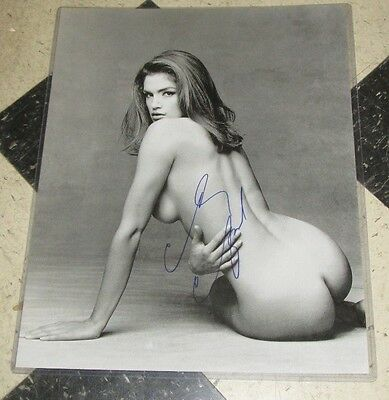 Cindy Crawford Signed Sexy Authentic Autographed 16x20 Photo COA