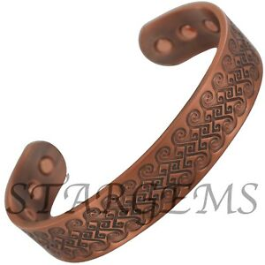 Mens Chunky Celtic Pure Copper Magnetic