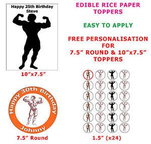 Personalised Bodybuilder And Bodybuilding Cake Cupcake