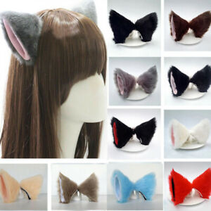 Lovely-Costume-Neko-Cosplay-Ear-Cat-Ears-Party-Hair-Clip-Hair-Accessories-Cute