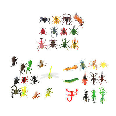 12pcs Plastic Insect Figure Model Educational Animal Toys Bug Mantis Ant Bee