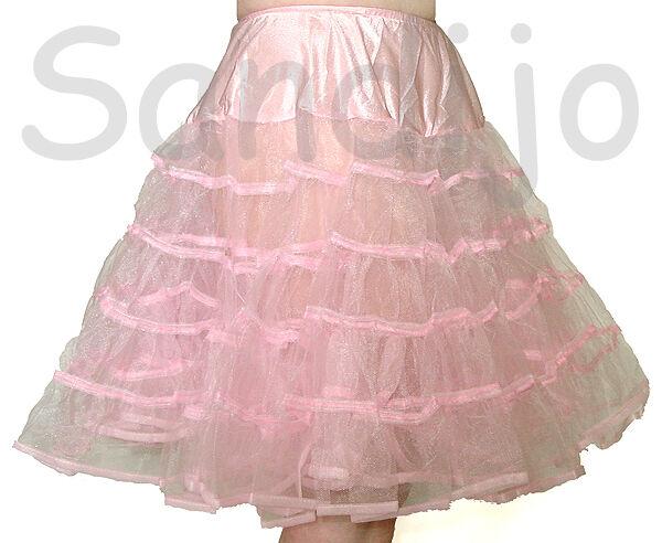 Crinoline Knee Length Petticoat, White, Black, Pink, Leg Avenue 83043, One Size