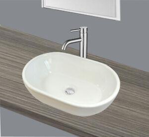 Dettagli su Lavandino Bianco Ovale Ceramica Lavandino Mani Lavandino 45x29,  5x12