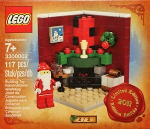 Lego-3300002-Fire-Place-Scene-NEU-Limited-Edition-2011-Holiday-Set-2-of-2