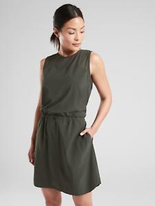 ATHLETA Sol Dress- schwarz Olive NWT Sz 2