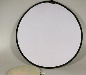 PRL) DISCOLITE 01001 ARGENTO BIANCO SILVER WHITE PANNELLO RIFLETTENTE 62cm FOTO
