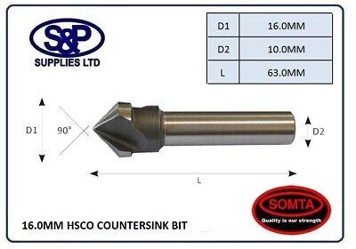 SOMTA 6.3MM HSSCo5 STRAIGHT SHANK 90 DEGREE COUNTERSINK BIT COBALT CSK BIT 6.3MM