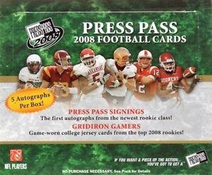 2008 Press Pass Football Hobby Box - Factory Sealed!